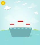 Ship at sea Royalty Free Stock Images