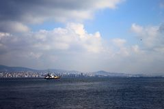 Ship on the Sea of Marmara Royalty Free Stock Image