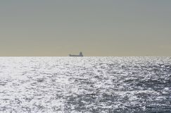 Ship at sea off Brighton. England Stock Photos