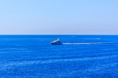 The ship in the sea off the Cote d'Azur in France Stock Image