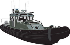 Ship sea power travel_vector Stock Image