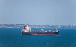 Ship at sea Stock Image