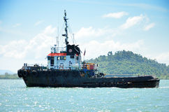 Ship in sea, Ranong, Thailand Stock Photo