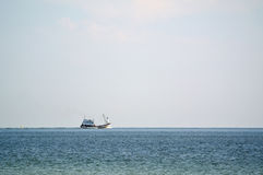 Ship in sea. Royalty Free Stock Image