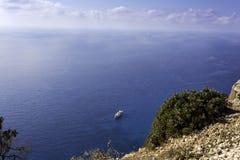 Ship in the sea. Summer season nature background Stock Photo