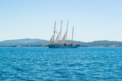 Ship in the sea Royalty Free Stock Photography