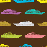 Ship seamless pattern Royalty Free Stock Images