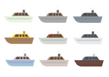 Ship set Royalty Free Stock Images