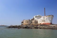 Ship shape building Stock Photo