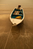 Ship. S bind to the sea beach in the evening Stock Photos