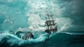 Ship, Shipwreck, Adventure, Setting Royalty Free Stock Photo