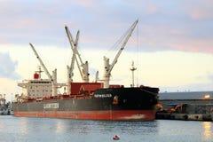 Ship at shipyard Stock Images