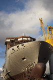 Ship in the shipyard Royalty Free Stock Image
