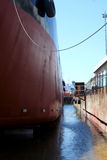 Ship In A Shipyard Dock Stock Photography