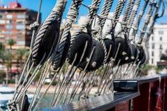 Ship shrouds Stock Image