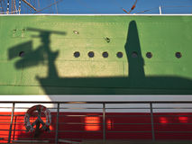 Ship - side view - shadow play Royalty Free Stock Photography