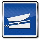 Ship sign boat ramp Stock Photo