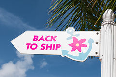 Ship sign Stock Photography