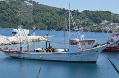 Ship in the Skiathos Greek Island Royalty Free Stock Photos