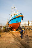 Ship in slipi Royalty Free Stock Photography