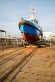 Ship in slipi Stock Photo