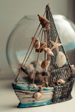 Ship. A small figurine marine vessel Royalty Free Stock Photography