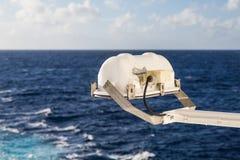 Ship Spotlight Over Sea Stock Photography