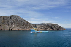 A ship in St.Johns, Newfoundland, Canada Stock Photography