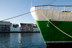 Ship in Stavangar Port Stock Photography