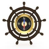 Ship steering wheel Royalty Free Stock Photos