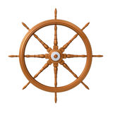 Ship steering wheel Royalty Free Stock Photo