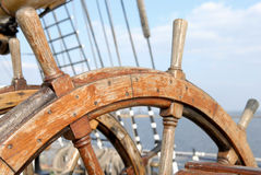 Ship steering wheel stock images