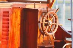 Ship Steering Wheel Stock Photo