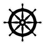 Ship steering wheel vector icon Royalty Free Stock Photography