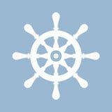 Ship steering wheel vector icon Stock Image