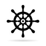 Ship steering wheel vector icon Royalty Free Stock Image