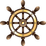Ship steering wheel Royalty Free Stock Photography
