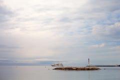 Ship in still sea. Royalty Free Stock Image