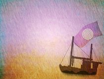 Ship in the storm Royalty Free Stock Images
