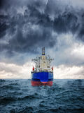 Ship in storm Stock Image