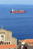 Ship at the Strait of Messina Royalty Free Stock Image