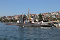 Ship and Submarine in Koc Museum Royalty Free Stock Image