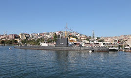 Ship and Submarine in Koc Museum Stock Image
