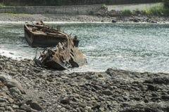 Ship sunk in sao tome africa Stock Photo