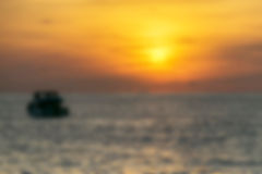 Ship and Sunset. Boats float in the sea to watch the sunset Royalty Free Stock Photography