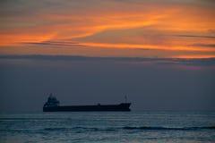Ship at sunset Royalty Free Stock Image