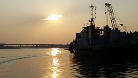Ship. In sunset hollyday in romania dreaming Stock Photos
