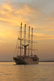 Ship at Sunset Stock Photo