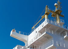 Ship superstructure fragment Royalty Free Stock Photo