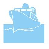 Ship symbol. Closeup of ship symbol on white background Stock Photos